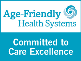 Age-Friendly Health Systems - Committed to Care Excellence Badge
