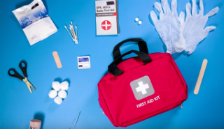 First aid kit and first aid supplies