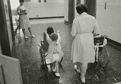 pediatric ward in the 1960s