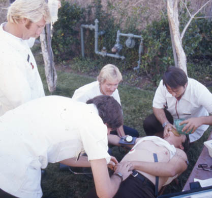 paramedics in training