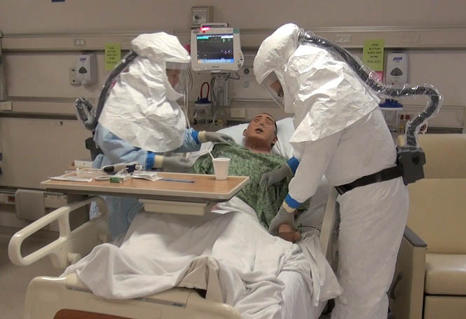 Safety protocols in event of an Ebola patient