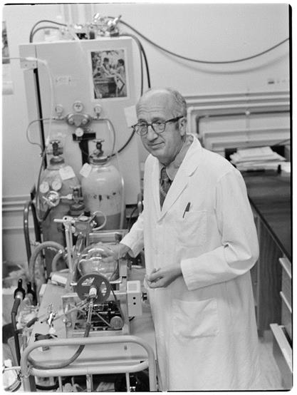 Dr. Edwin Seegmiller in lab
