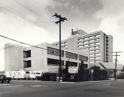 University Hospital, the old county hospital, in 1977