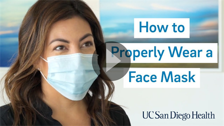 Video: How to Properly Wear a Face Mask - Click to play