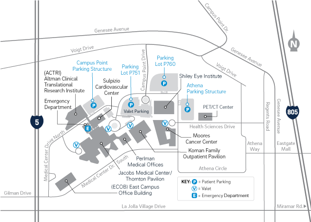 La Jolla Campus Map