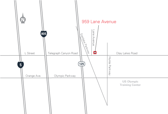 map for 959 Lane Avenue