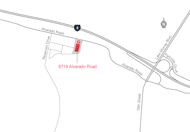 map for 6719 Alvarado Road