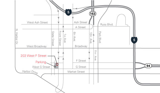 map for 203 West F Street