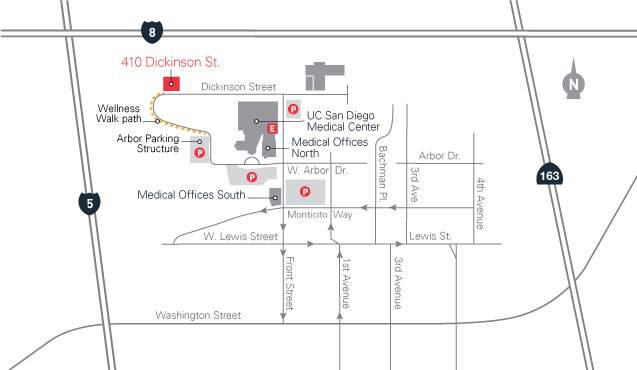 map for 410 Dickinson Street