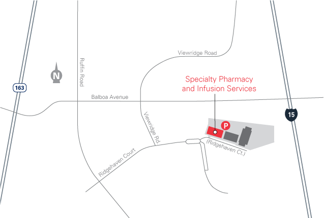 map for 9610 Ridgehaven Court clinic