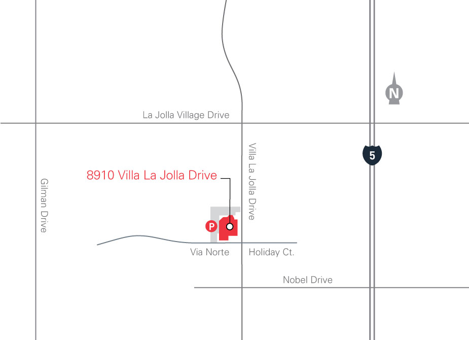 map for 8910 Villa La Jolla Drive