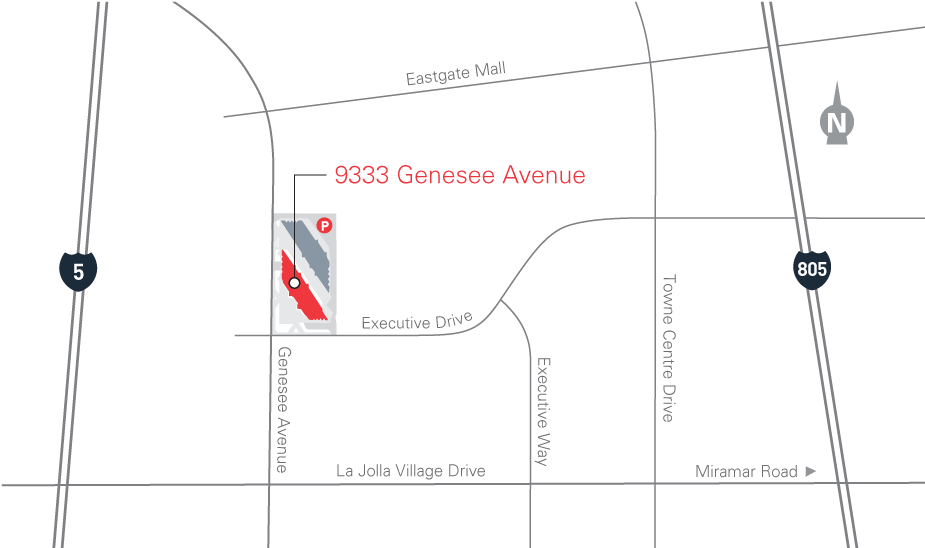 map for 9333 Genesse Avenue
