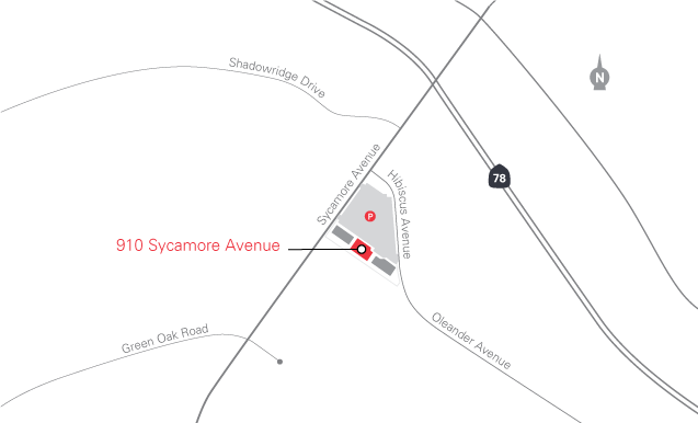 Map of 910 Sycamore Avenue clinic