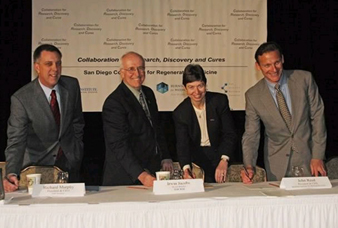 Signing agreement to establish the San Diego Consortium for Regenerative Medicine