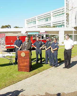 Burn safety press conference