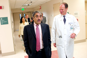 Chancellor Visits Hillcrest Hospital
