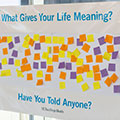 What gives your life meaning bulletin board