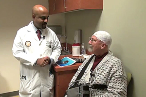 Doctor with Brain Cancer Patient