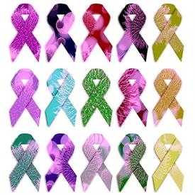Microbiome cancer awareness ribbons