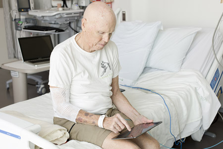 patient using iPad