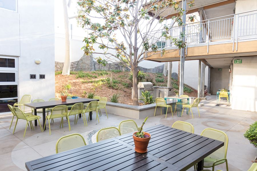 Patio at Bannister House