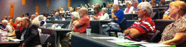 Attendees of the Essential Tremor Symposium, Autumn 2012 at UC San Diego Health