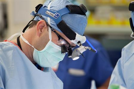 surgeon performing Awake Brain Surgery